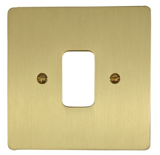 G&H Flat Plate Satin Brushed Brass